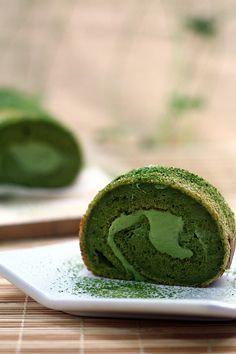 Matcha Souffle Roll Cake by wenday :D, via Flickr