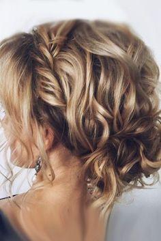 wedding updos for short hair volume curls lenabogucharskaya