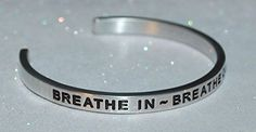 Breathe In  Breathe Out  Move On  Engraved Hand Made and Polished Bracelet with Free Satin Gift Bag *** Click image for more details.Note:It is affiliate link to Amazon.
