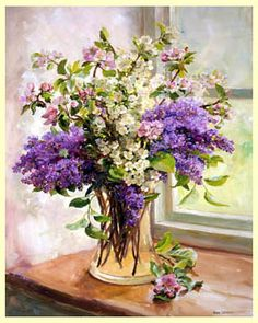 Ann Cotterill OIL Lilac and Other Blossom