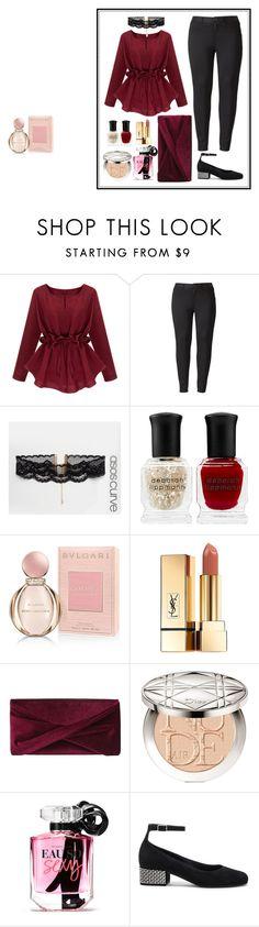 """Size Plus Outfit"" by zahratsa on Polyvore featuring Simply Vera, ASOS Curve, Deborah Lippmann, Bulgari, Yves Saint Laurent, Reiss, Christian Dior, Victoria's Secret and plus size clothing"