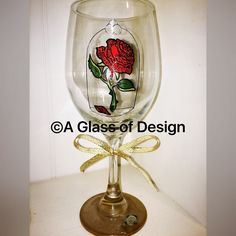 Enchanted Rose glass