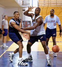Pippen, Shaq and Malone Practice, '96 Olympics.
