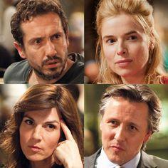 Dit is een foto hoe de vier hoofdpersonages (Paul, Claire, Babette en Serge) er in het echt zouden uitzien.