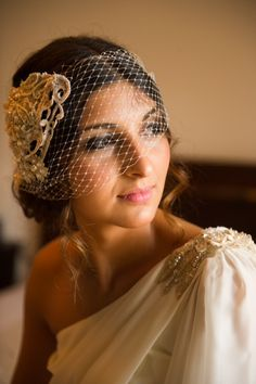 Beautiful Sara wearing the Daisy birdcage
