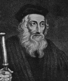 """John Wycliffe believed the Bible should be accessible to all, not just the educated. Translated from Latin to English. Put on trial 3 times by the church who HATED him, he said to them: """"He said, """"With whom think you are ye contending? With an old man on the brink of the grave? No! With Truth—Truth which is stronger than you, and will overcome you."""""""