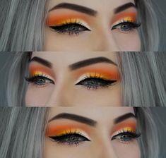 Beautiful orange eye makeup look #eyeshadow #makeup #makeupartist #makeuplooksbeautiful #eyemakeup