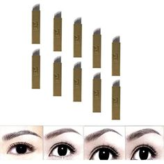 DZT1968 50Pcs 12Pins Permanent Makeup Eyebrow Tattoo Blades Microblading Needles -- For more information, visit image link. (This is an affiliate link) #TattooSupplies
