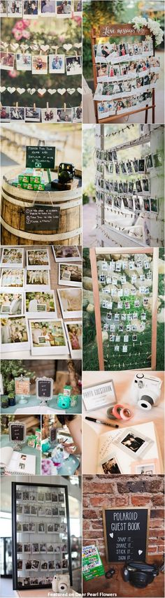 unique wedding ideas - Polaroid wedding reception decor ideas / http://www.deerpearlflowers.com/creative-polaroid-wedding-ideas/