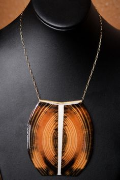 Paul Guillemette Jewelry, Wood Statement Necklace, $ 120.00