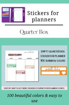 Blank Quarter Box Sticker, Daily Blank Stickers with Heart Printable Labels, Printable Stickers, Printable Planner, Planner Stickers, Erin Condren Life Planner, Weekly Planner, Blank Labels, Planner Supplies, Journal Cards