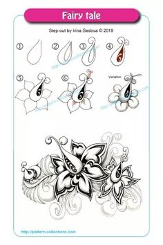 Zentangle patterns - 5 Exercises to Get Better at Drawing – Zentangle patterns Zentangle Drawings, Doodles Zentangles, Doodle Drawings, Easy Drawings, Zen Doodle Patterns, Zentangle Patterns, Doodle Borders, Tangle Doodle, Tangle Art