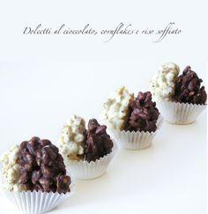 Spelucchino: Dolcetti al cioccolato, cornflakes e riso soffiato