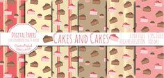 Cakes & Cakes Digital Paper di CreativePopLab su Etsy