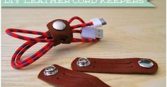 Last minute DIY leather cord keepers, DIY power cord organization, travel electronics organizer, gifts for the traveler, traveling accessories