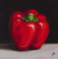 Red, Yellow and Green Peppers - Original Fine Art for Sale - © Jane Palmer