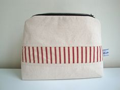 0797d5175b Mens natural cotton canvas Wash Bag - handmade - toiletry storage bag - gift-  boys wash bag - funky mens wash bag