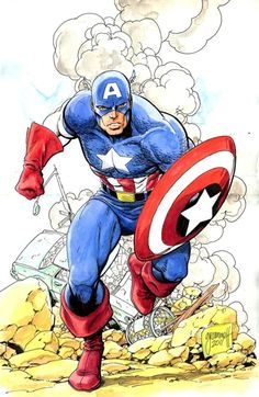 I love Captain America! He is the Superman of Marvel Comics!