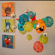 Gus's Monster Room! Inspired by MULTIPLE Pinterest projects... :)