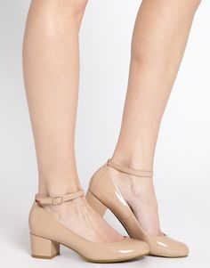 Toy Ankle Strap Low Heel Shoes
