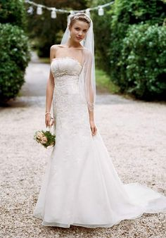empire waist, organza with lace, fit-and-flare