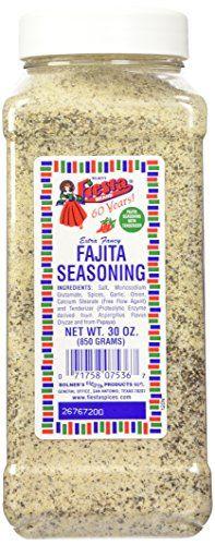 Bolner's Fiesta Extra Fancy Fajita Seasoning, 30-Ounce Plastic Canister Bolner's Fiesta