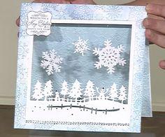 Die'sire Christmas Fancy Edge'ables  Christmas Garden aperture card