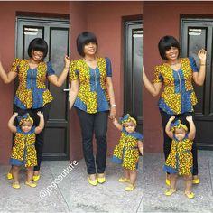 Creative Ankara Design for Mother and Daughter . Creative Ankara Design for Mother and Daughter African Dresses For Women, African Attire, African Wear, African Women, African Skirt, African Clothes, African Style, African Babies, African Children