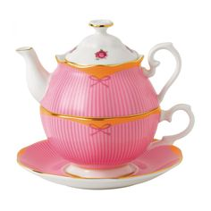 """Royal Albert - 'Candy' Collection - """"Sweet Stripe"""" Tea For One"""