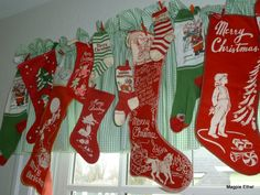 old printed stockings