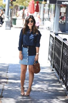 DENIM PATCH SKIRT | CHIC TALK