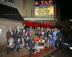 Dark Songs class of 2015 in front of Third Avenue Playhouse before Saturday night's show. (photo by Ty Helbach) Saturday Night Show, Dark Songs, Rocky Horror Picture Show, Halloween Party Costumes, Play Houses, Third