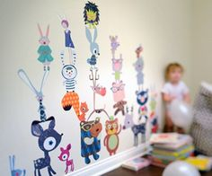 Large Colorful Forest Animals Fabric Wall Art Decals for Kids Rooms - Unique Eco-friendly Fabric Wall Stickers for Nursery, Toddler Rooms, Day Care Centers - Fabric Wall Murals for Kids Rooms, Bedrooms, Playrooms, Library, Doctor's Office