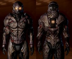 Collector armour on male Shepard.