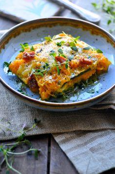 Sund lasagne opskrift med squash-plader (Recipe in Danish)