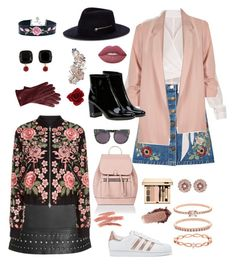 """""""Rosé in Red """" by aline11maria on Polyvore featuring Topshop, Needle & Thread, Miss Selfridge, River Island, Yves Saint Laurent, adidas Originals, Accessorize, STELLA McCARTNEY, Ted Baker and Lime Crime"""