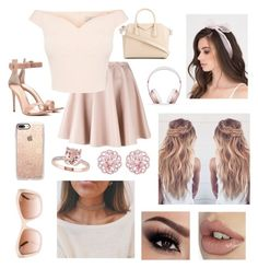 """""""Pink OOTD"""" by kaileewhaley13 ❤ liked on Polyvore featuring Giamba, Gianvito Rossi, Givenchy, Beats by Dr. Dre, Casetify and Chanel"""