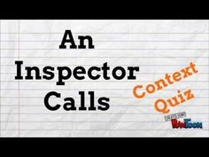 An Inspector Calls Revision – Context, characters, quotations and fun! English Gcse Revision, Gcse English, English Literature, An Inspector Calls Revision, Quiz With Answers, Video Resume, Teaching Tips, Study Tips, Classroom Management