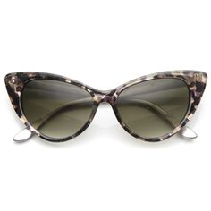Womens Retro Mod 1950's Version Hot Tip Pointed Cat Eye Sunglasses 9145 from zeroUV 9,99$