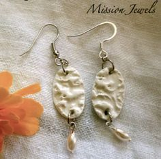 Polymer Clay Jewelry Lace Textured Polymer Clay by MissionJewels, $16.00