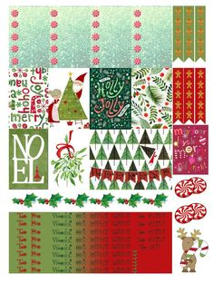 Christmas: Free THP (the happy planner by MAMBI) sticker. Free printable sticker layout may be subject to copyright not intended for retail; personal use only