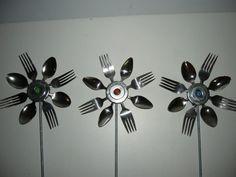 Silverware Flower Recycled Garden Art
