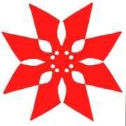 fold and cut poinsettia - like a snowflake