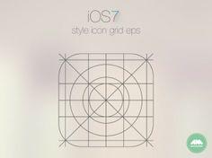 App Icon Grid designed by Allan McAvoy. App Ui Design, Grid Design, Web Design, Design Ideas, Graphic Design, Sacred Geometry Art, Ios 7, Ios Icon, Jpg