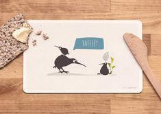 Frühstücksbrettchen - Kiwi Waltraud von catsonappletrees auf DaWanda.com