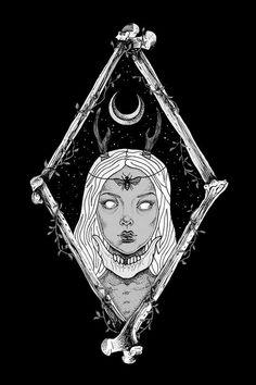 Spotlight Alejandra Sáenz on her art with a dark and occult twist - Bleaq Illustrator, Satanic Art, Occult Art, Occult Symbols, Witch Art, Design Graphique, Book Of Shadows, Art Design, Dark Art