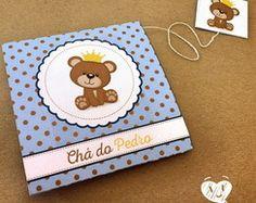 Convite Chá de Bebê (urso príncipe )
