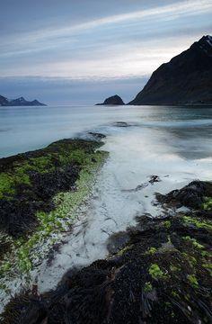 Haukland Beach, Lofoten Norway by Niek Bouwen