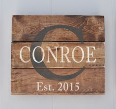 Personalized Family Name sign, Custom Rustic Wood Sign, Anniversary Gift,  Last Name Sign, Wedding Gift, Bridal Shower Gift by wavynavy on Etsy https://www.etsy.com/listing/223105146/personalized-family-name-sign-custom