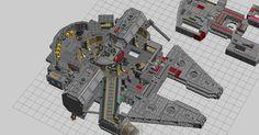 Minifig Scale Falcon Progress